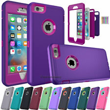 For iPhone 5S 5C 6S 8 7 Plus XR 11 Phone Case Hybrid Shockproof Armor Hard Cover