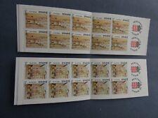 Lot de timbres neufs de Monaco de 1989: carnets n°3 et 4