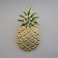 Large Pineapple pin with green painted top hospitality pins gift idea lapel pin