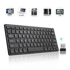 Mini Wireless Keyboard Quiet 2.4GHz USB Windows Android Smart TV UK Layout