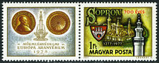 Hungary 2490/label, MNH. View of Sopron, Fiidelity Tower, Arms, 1977