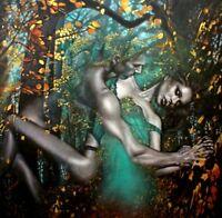"Original Art,Oil/Canvas,Hyper Surrealism, Stunning! ""MAGIC MOMENTS"" 48x48 Europe"