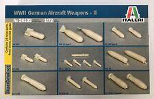 ITALERI 1:72 WWII GERMAN AIRCRAFT WEAPONS II ARMI AEREE TEDESCHE II ART. 26102