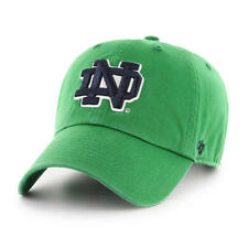 6885a8daa1d Notre Dame Fighting Irish  47 Brand Kelly Green Clean Up Adjustable Dad Hat