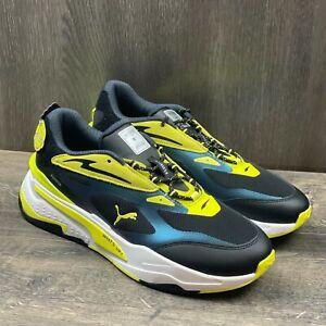 Puma RSx Fast Emoji Men's Sneakers Size 10.5 Silver Yellow Black 375374-01