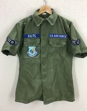 Vintage 60's USAF Pacific Air Force Cotton Sateen Shirt Sz Small