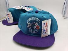 Vtg 90s AJD NBA Charlotte Hornets Basketball Numbered Nwt Snapback Hat Cap