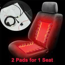 2Pcs 12V Universal Carbon Fiber Car Heated Seat Heater Pads Kit w/Round Switch