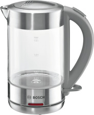 BOSCH TWK 7090 B Glas - Edelstahl Wasserkocher Kalkfilter kabellos NEU