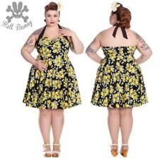 Hell Bunny Leandra Rockabilly Pinup Swing Day Retro Vintage Mini Dress XL-4XL