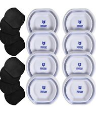 Bed Bug Trap 8 Pack White | 3M Rubber Base Pads Included Non Slip Safe Pads