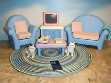LITTLE TIKES MY SIZE DOLLHOUSE LIVING ROOM SET PLUS *EXTRAS*