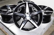 17x7.5 5 Stars Black Wheels Rims 5x115 Century Lucerne CTS De Ville Seville Volt