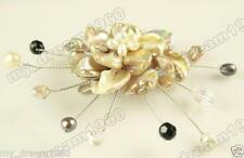 Pearl Shell Pearl Flowers Brooch Women 'S Jewelry Natural Mother Of