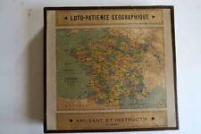 JEU ANCIEN LOTO PATIENCE GEOGRAPHIQUE ANNES 50 EUROPE ASIE FRANCE AFRIQUE M.L.