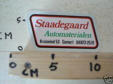 STICKER,DECAL STAADEGAARD AUTOMATERIALEN GEMERT