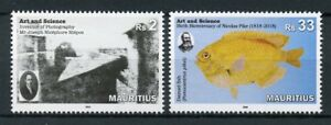 Mauritius 2018 MNH Arts & Science Damsel Fish 2v Set Photography Fishes Stamps