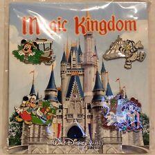 Disney Magic Kingdom Mickey & Minnie Goofy & Donald Booster 4 Pin Set NEW RARE