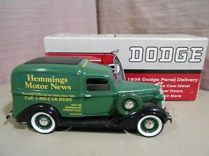 1936 LIBERTY DODGE Panel Delivery HEMMINGS MOTOR NEWS Locking Bank 1/28 Die Cast