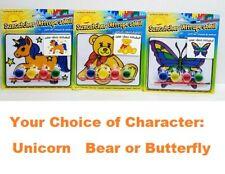 Kids Suncatcher Set Arts Crafts Fun Paint Unicorn Bear Butterfly New