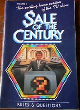 Aust SALE OF THE CENTURY RULES & QUESTIONS, VOLUME 1  Trivia p/b