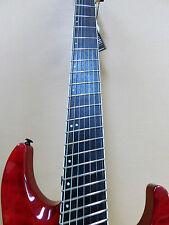 Haze F7 Fanned Frets 7-String Electric Guitar - Trans Red + Gig Bag + FULL KIT