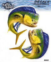 MAHI  DORADO Stickers STATE CUT-OUTS fly fishing DECALS Florida saltwater