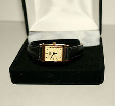Cross Deco Style Womens Watch Classic Gold Tone Wavy Dial New MiB $300 Value