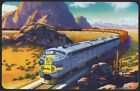 Vintage playing card SANTA FE railroad train in American Southwest pictured