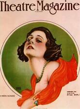ART Nouveau NORMA TALMADGE 1920 VINTAGE Alberto Vargas ORIGINAL BOOK TARGA STAMPA
