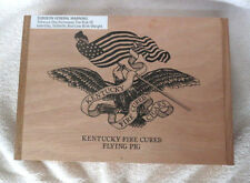 DREW ESTATE KENTUCKY FIRE CURED FLYING PIG AMERICAN FLAG WOOD CIGAR BOX  -NICE