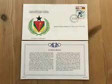 GUINEA BISSAU GUINEE 1984 FDC FRANKLIN OLYMPIC GAMES LOS ANGELES SPEED SKATING