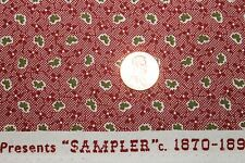 """""""SAMPLER"""" CIRCA 1870-1890 REPRODUCTION QUILT FABRIC BTY FOR WINDHAM 41303-2"""