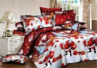 Merry Christmas Bedding sets Gift Duvet Cover&pillowcase&Sheet Queen/King size