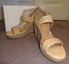 JIGSAW LADIES 'EMILIA' LEATHER CUT-OUT WEDGE SANDALS (SIZE 5 / 38)