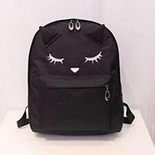 Teenages Girls Cute cat Canvas School Backpack Travel Rucksack Shoulder Bag New