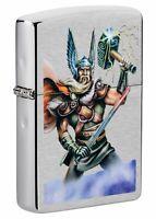 Zippo Thor Design Brushed Chrome Windproof Pocket Lighter, 49250