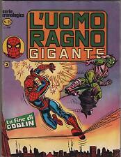 L' UOMO RAGNO GIGANTE  # 25   LA FINE DI GOBLIN  editoriale corno 1978
