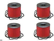 4 Pack Oil Filter Suzuki GS,GSF,GSX,GSXR,250,400,425,450,500,550,750,1000 Street