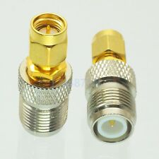1pce Adapter RP.TNC plug female to SMA male plug RF connector straight F/M