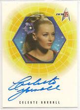 Star Trek 35th Anniversary TOS Autograph Card A16 Celeste Yarnall Yeoman Landon
