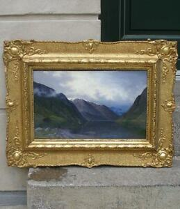 Nels Hagerup (American, 1864) Hardanger Fjord. Norway.  Dated 1887. Must see.