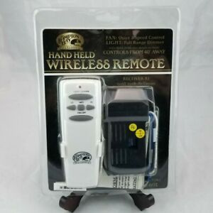 The Hampton Bay Wireless Remote Control T2R1 191-691 Hand Held Ceiling Fan NEW