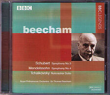 Thomas BEECHAM: MENDELSSOHN Symphony 4 SCHUBERT 3 TCHAIKOVSKY The Nutcracker CD