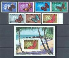 [DOM] DOMINICA 1975 BUTTERFLIES, INSECTS.SET OF 7 ST +  S/S
