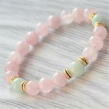 Mala Bracelet Buddhism Religious Meditation 8mm Rose Quartz Gemstone Handmade