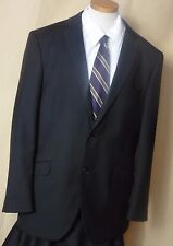 Men's Billy London UK Blue 2 Button Polyester Blend Sport Coat Size 42R