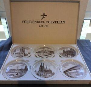 """Fürstenberg_Porzellan_6er Set_Köln Wahrzeichen_""""Untersetzer"""" 10cm - neuwertig"""