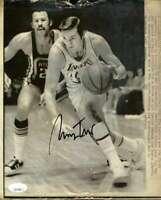 Jerry West JSA Coa Autograph 8x10 1971 Original Photo  Hand Signed Authentic