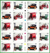 2002 ANTIQUE TOYS MNH Booklet 20x37¢ Stamps #3642-3645, Cast-Iron Trucks Engines